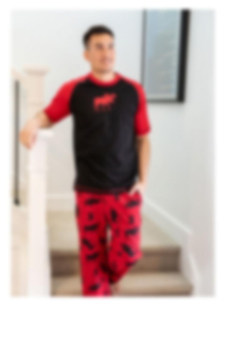 Red Classic Moose Pajamas