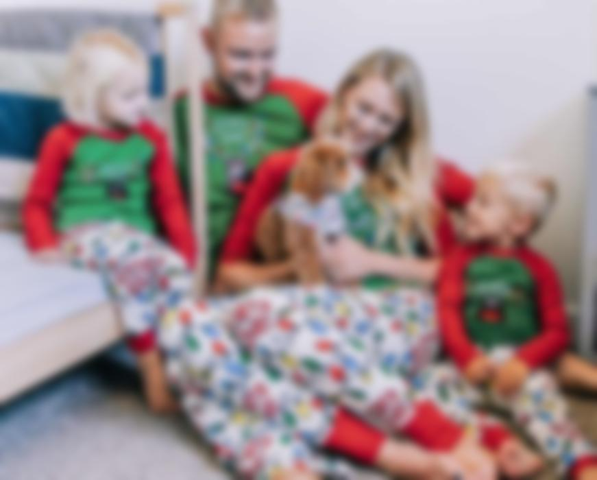 Family Pajamas with Options for Pets