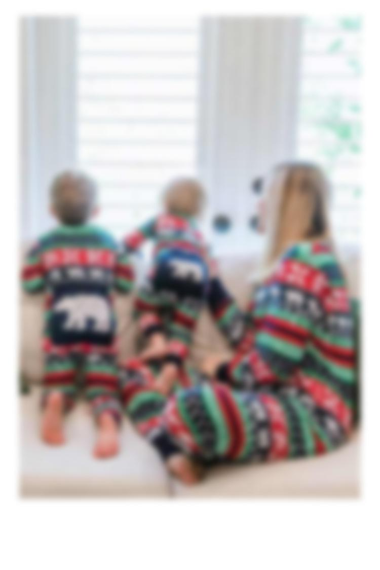 Mommy and Me - Sweater Bear Pajamas
