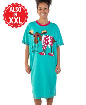 Don't Do Mornings Moose Nightshirt