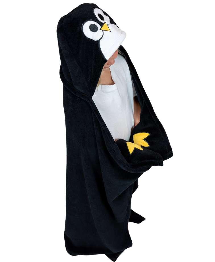 Penguin Kid's Hooded Blanket