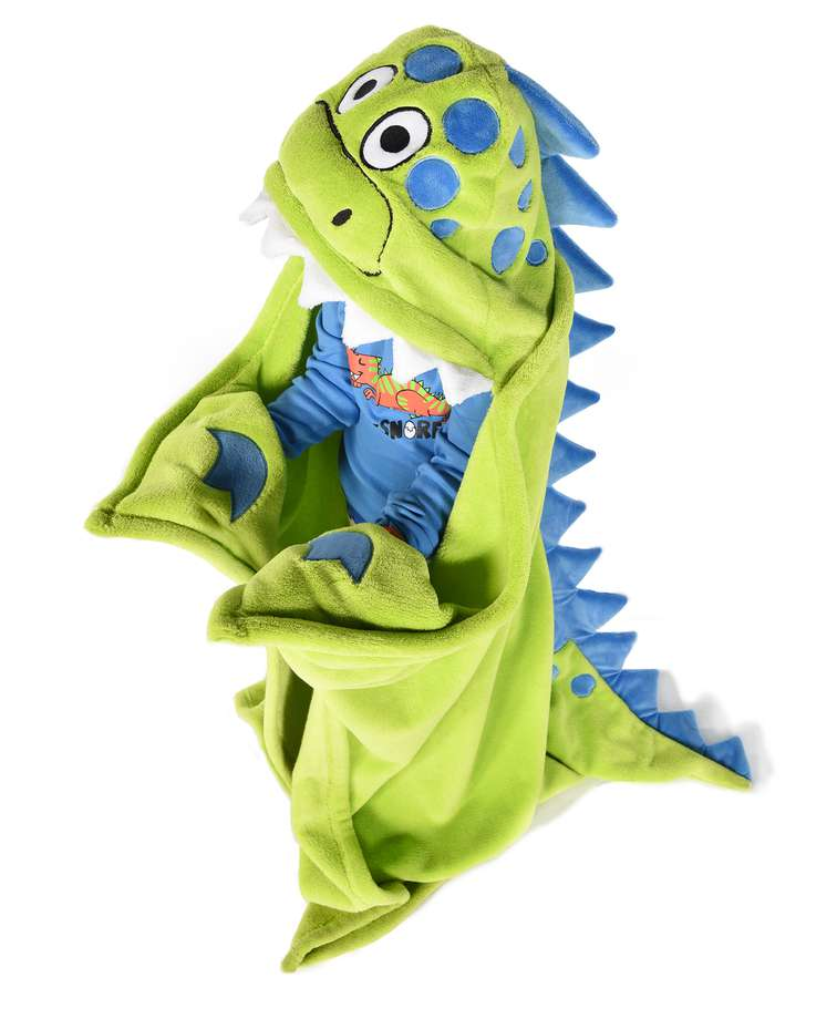 Dinosaur Kid's Hooded Blanket