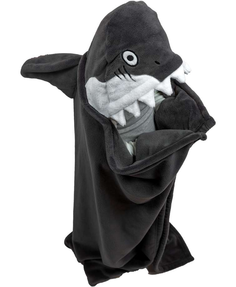 Shark Kid's Hooded Blanket