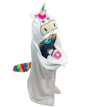 Unicorn Kid's Hooded Blanket