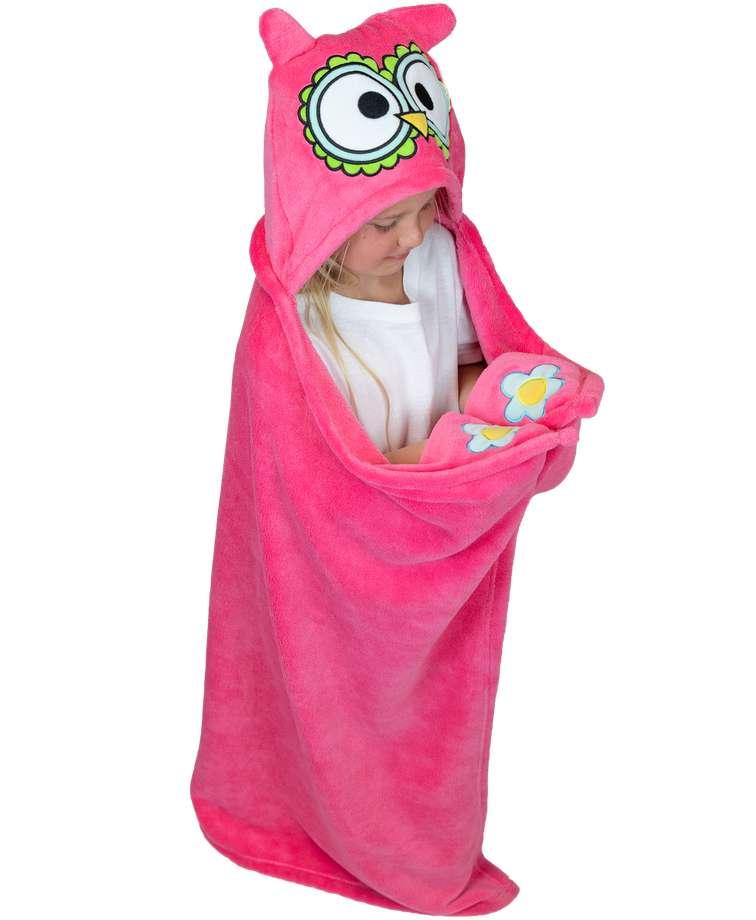 Owl Kid's Hooded Blanket