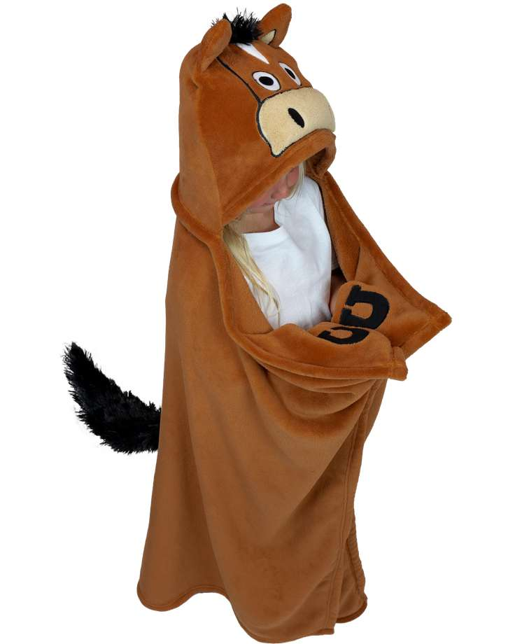 Horse Kid's Hooded Blanket