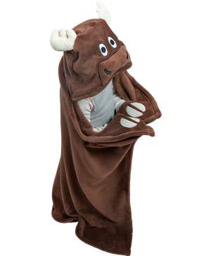 Moose Kid's Hooded Blanket