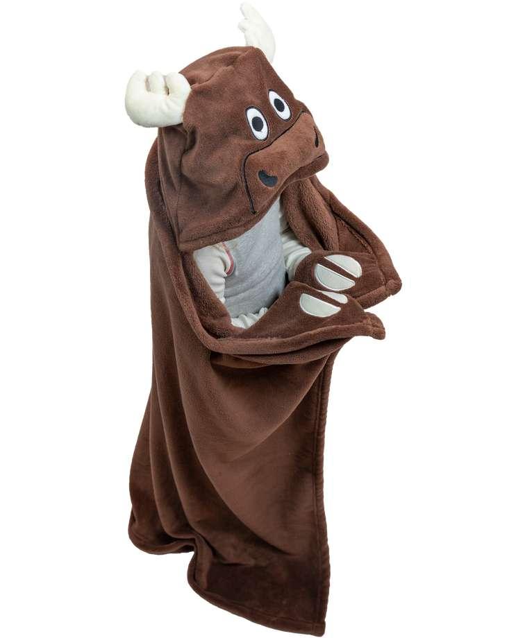Moose Kid's Hooded Blanket