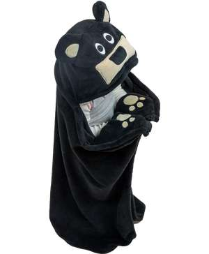 Bear Kid's Hooded Blanket