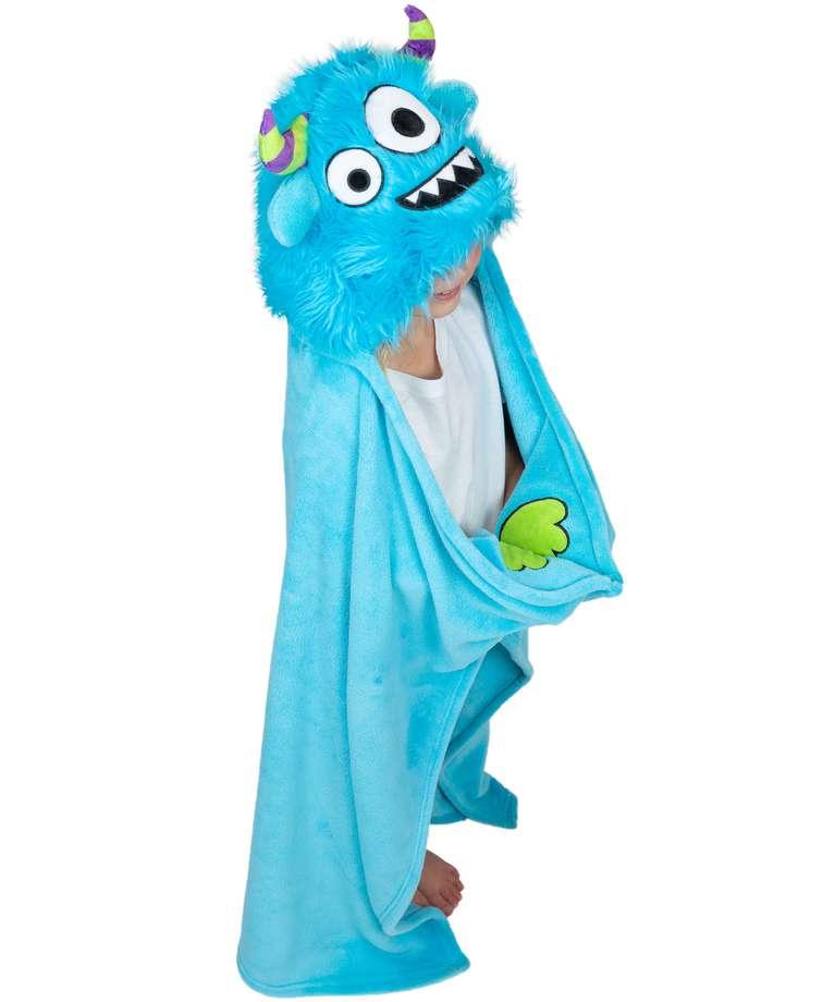 Monster Kid's Hooded Blanket