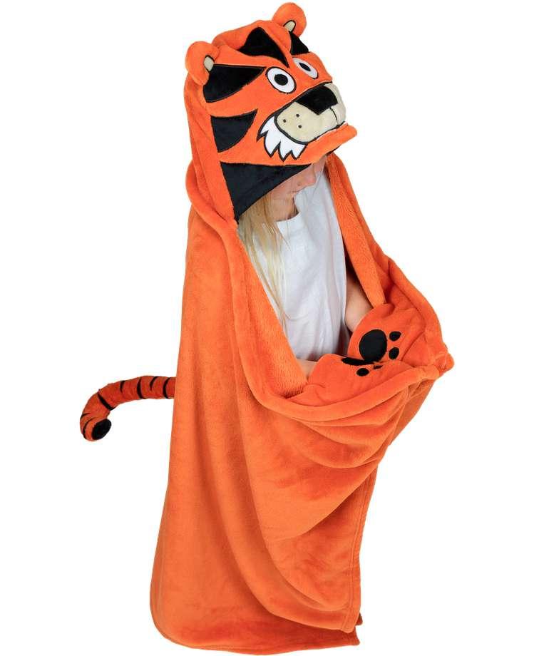 Tiger Kid's Hooded Blanket