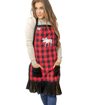 Plaid Moose Women's Apron