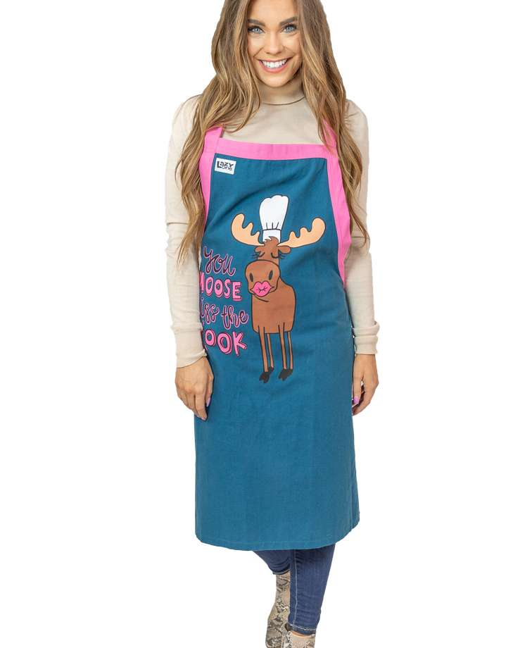 Kiss the Cook Moose BBQ Apron