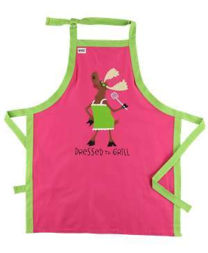 Dressed to Grill Moose BBQ Apron