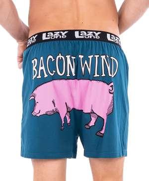 Bacon Wind Men's Pig Funny Boxer