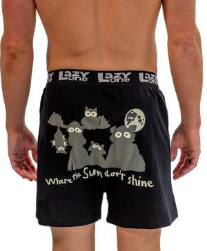 Sun Don't Shine Men's Critter Funny Boxer