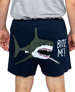 Bite Me! Men's Shark Funny Boxer