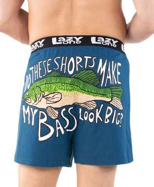 Do These Shorts Make My Bass Look Big? Men's Funny Boxer