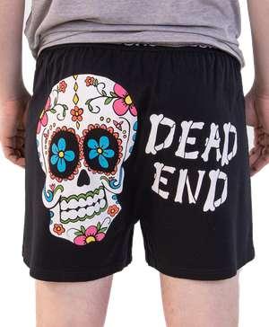 Dead End Men's Skull Funny Boxer - Clearance