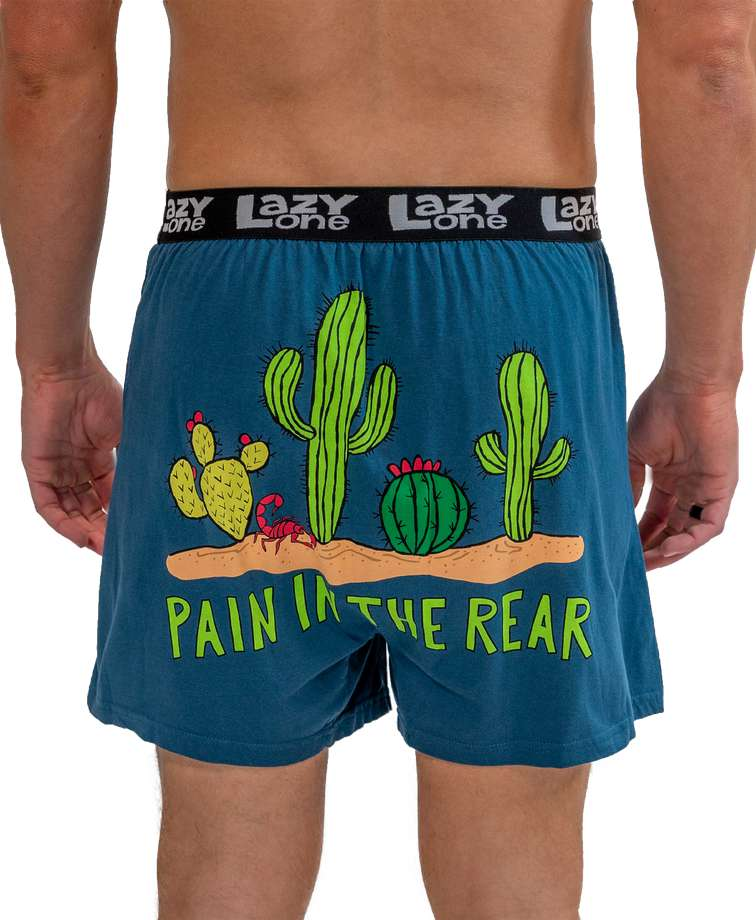 Pain In The Rear Men's Cactus Funny Boxer