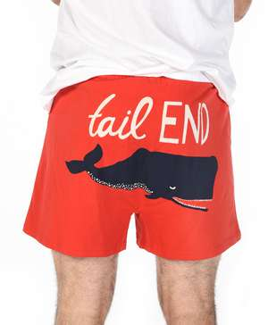 Tail End Men's Whale Funny Boxer