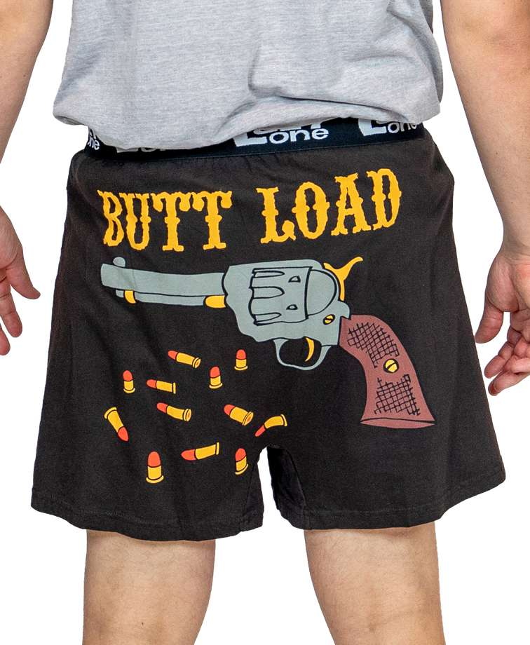 Butt Load Men's Gun Funny Boxer (C)