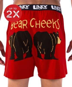 Bear Cheeks Men's Funny Boxer