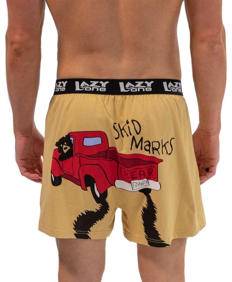 Skid Marks Men's Funny Boxer