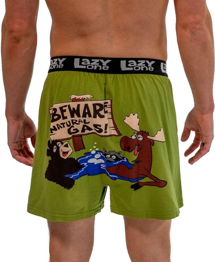 Beware of Natural Gas Men's Funny Boxer