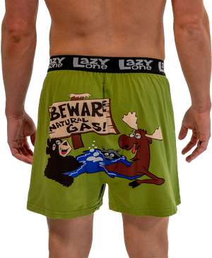 Beware of Natural Gas Men's Funny Boxer