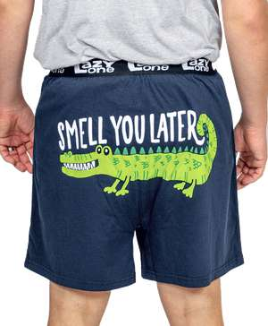 Smell You Later Men's Alligator Funny Boxer