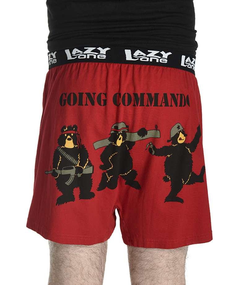 Going Commando Bear Men's Funny Boxer