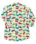 Pattern Moose Button Nightshirt