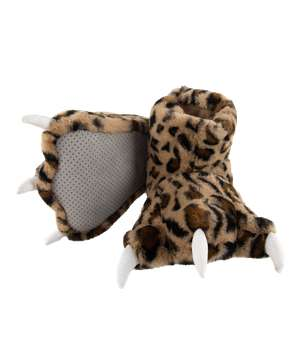 Leopard Kid and Adult Paw Slipper