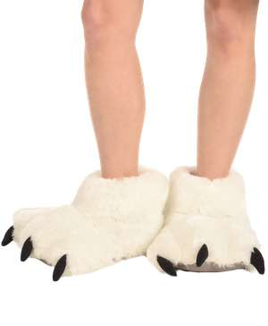 White - Polar Bear | Paw Slipper