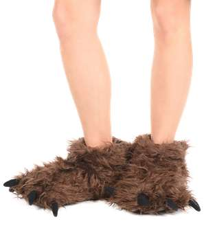 Big Foot Kid and Adult Paw Slipper