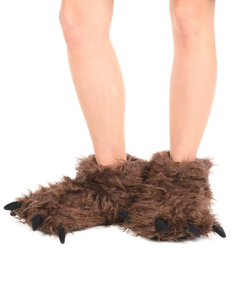 Big Foot Kid and Adult Paw Slipper