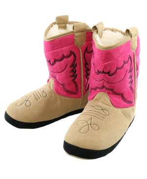 Girl Pink Boot Slipper