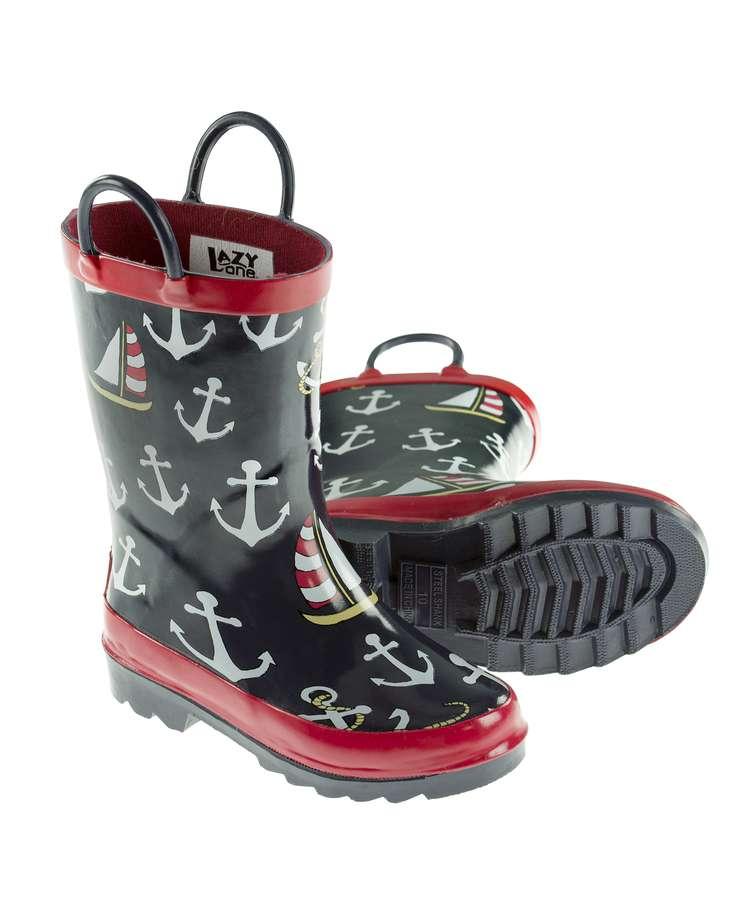 Nautical Kid's Rain Boot