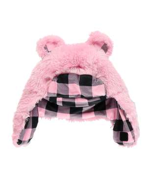 Pink Bear Kid and Adult Critter Cap