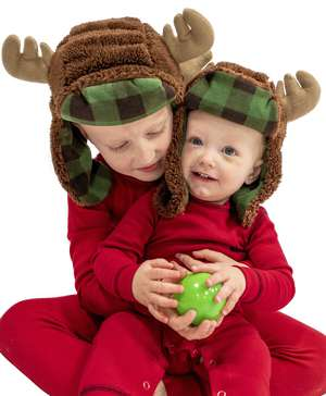 Moose Kid and Adult Critter Cap