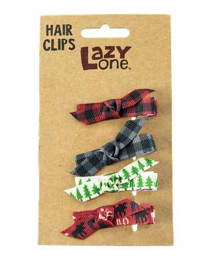 Red Moose Hair Clips