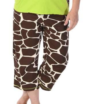 Looong Day Giraffe PJ Capri Pants