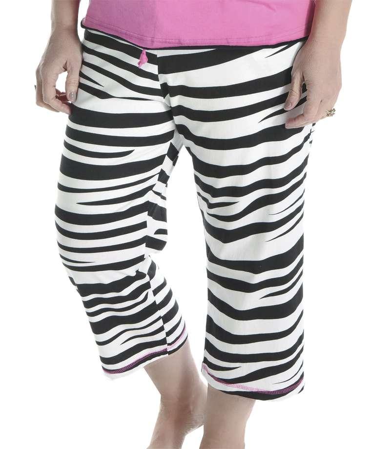 Catching Zzzz's Women's Zebra Capri Pant