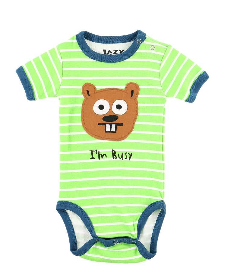 I'm Busy Beaver Infant Boy Creeper Onesie