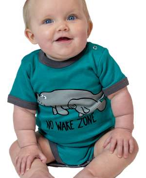 No Wake Zone Manatee Infant Creeper Onesie