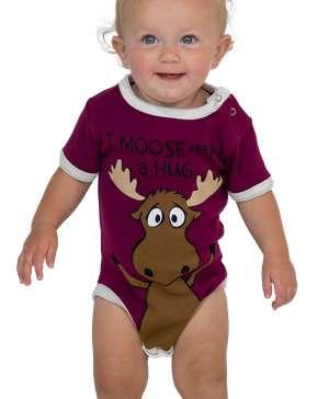 I Moose Have A Hug Girl Infant Creeper Onesie