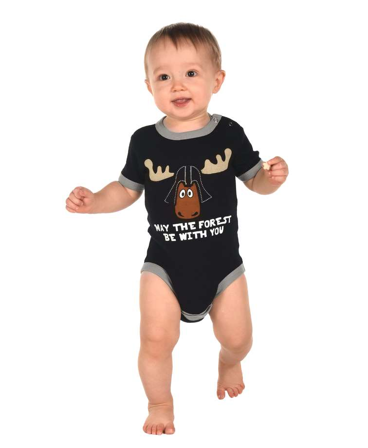Forest Be With You Infant Creeper Onesie