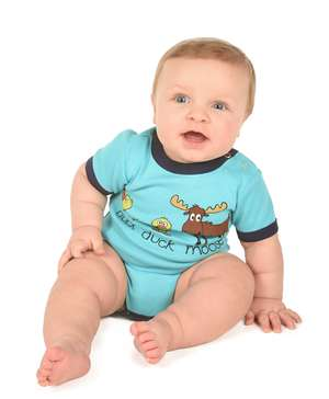 Duck Duck Moose Boy Infant Creeper Onesie (C)