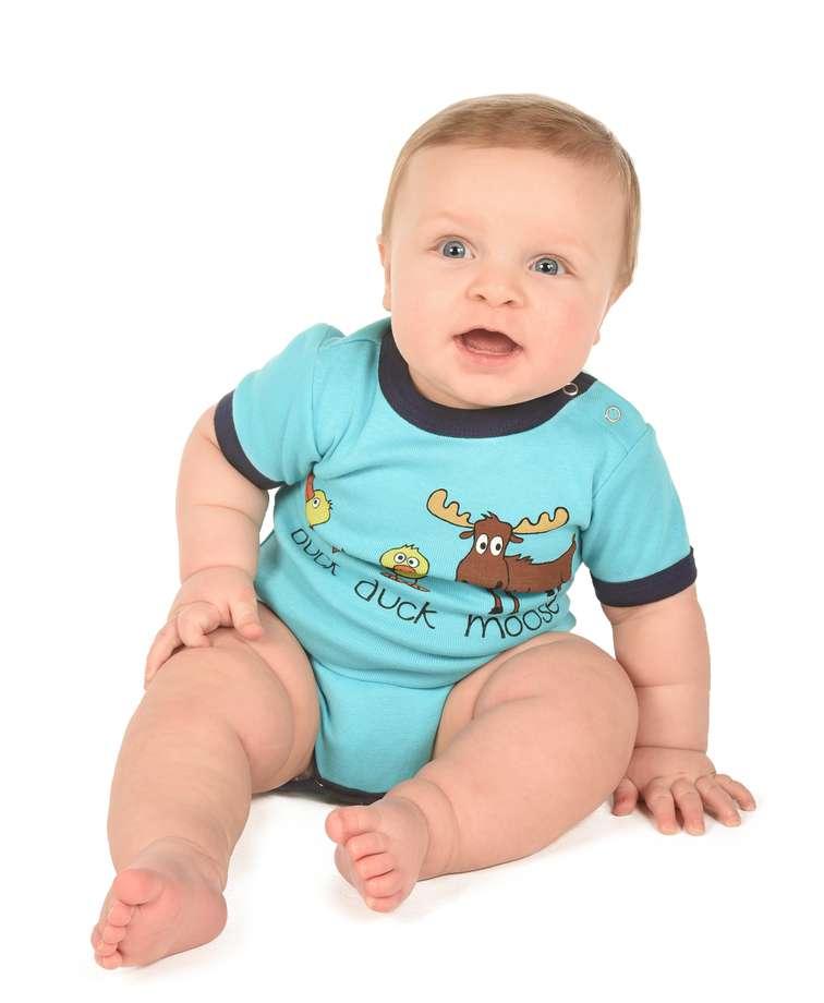 Duck Duck Moose Boy Infant Creeper Onesie (C)
